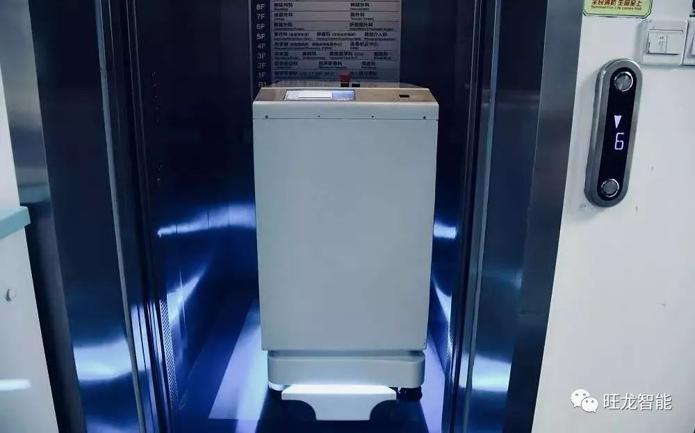 旺龙机器人乘梯通行解决方案成功落地北大深圳医院